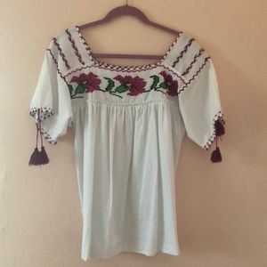 Authentic Mexican Peasant Blouse